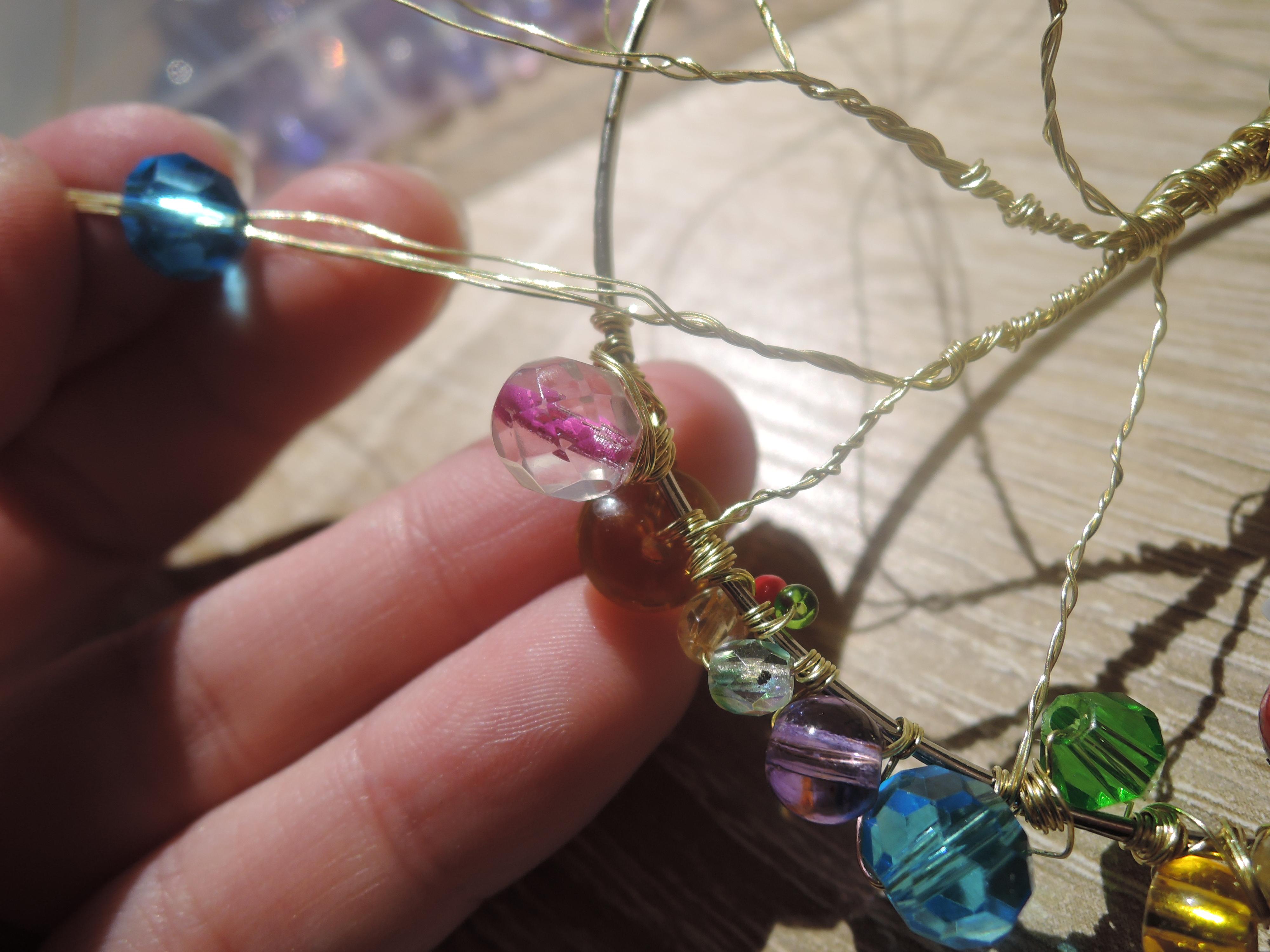 Traumfänger Amulett Aus Draht Und Perlen Eine Tüte Glück