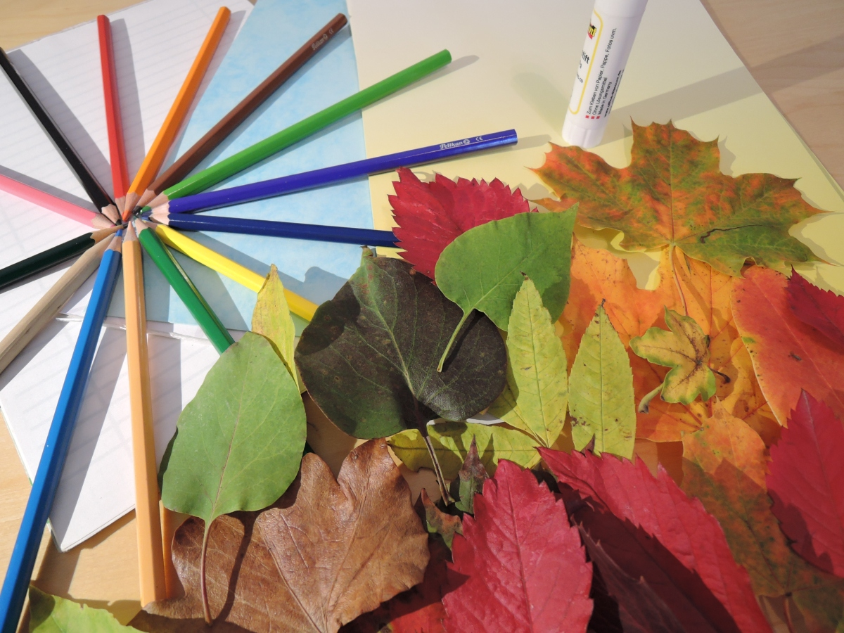 Briefpapier Gestalten : Herbstliches briefpapier gestalten eine tüte glück